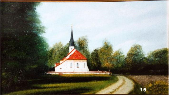 Nr.15 Lindumer Kircherl. Format 30x40cm