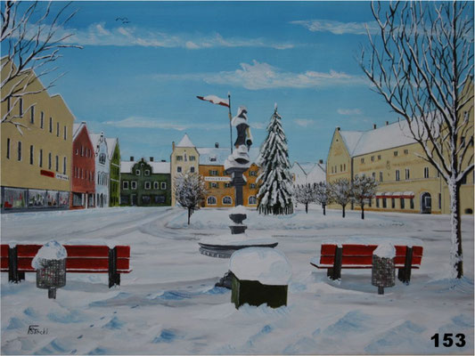 Nr.153 Dorfen im Winter 1985/86. Format 30x40cm