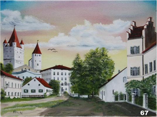 Nr.67 Burg in Haag/Obb. um 1899. Format 30x40cm