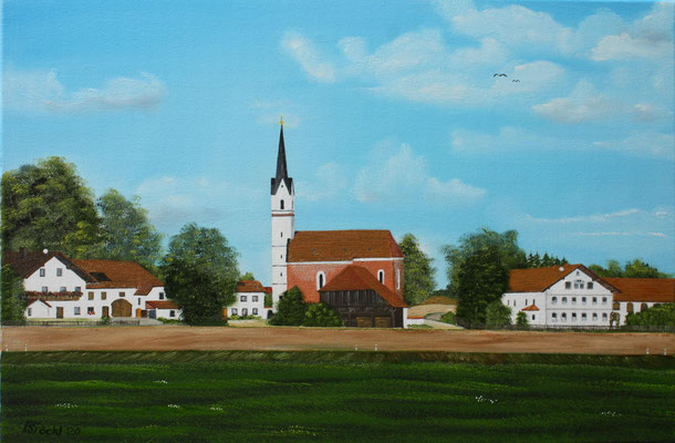 Nr.185  Kreuz bei Velden/Vils. Format 60x40cm.