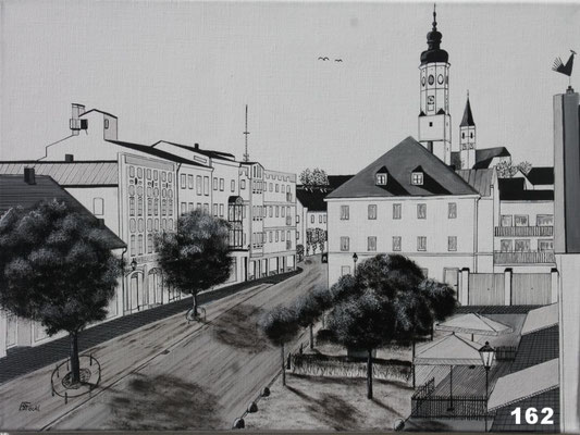 Nr.162 Dorfen Rathausplatz. Format 40x60cm