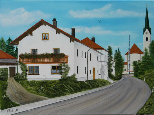 Nr.175  Schwindkirchen östl. Ansicht. Format 30x40cm