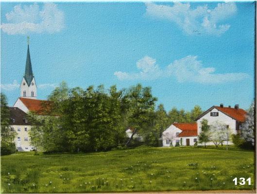 Nr.131 Schwindkirchen mit Anwesen Weinberger. Format 30x40cm
