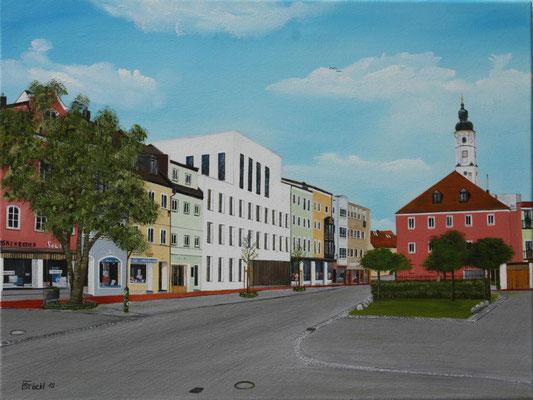 Nr.177 Dorfen Neues Rathaus 2019. Format 40x60cm