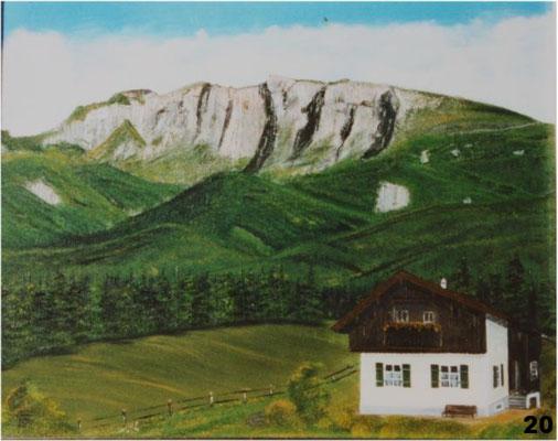 Nr.20 Benediktenwand. Format 40x50cm