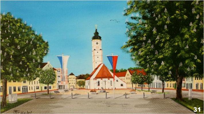 Nr.31 Marktkirche Dorfen. Format 30x40cm
