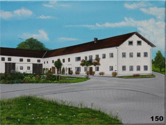 Nr.150 Bauernhof in Hampersdorf. Format 30x40cm