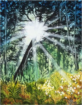 Nr.4k Goldene Sonnenstrahlen II. Format 40x50cm