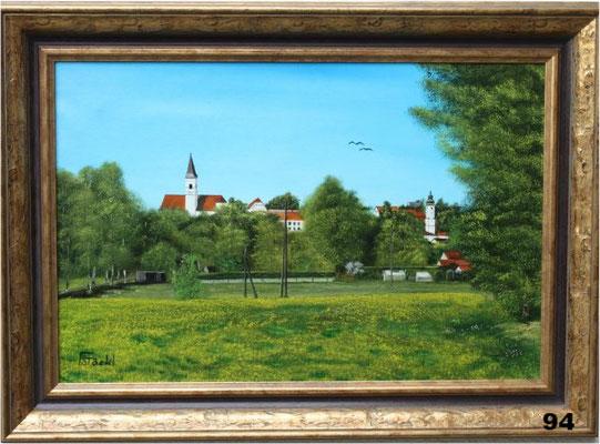Nr.94 Dorfen, Blick auf Stadt-und Marktkirche. Format 40x60cm