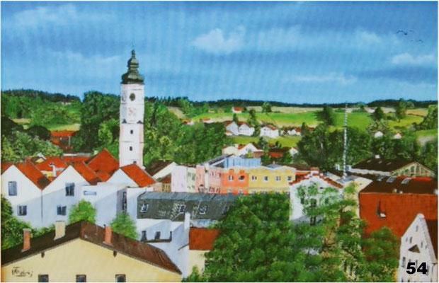Nr.54 Blick vom Schuxenberg auf Dorfen. Format 40x60cm
