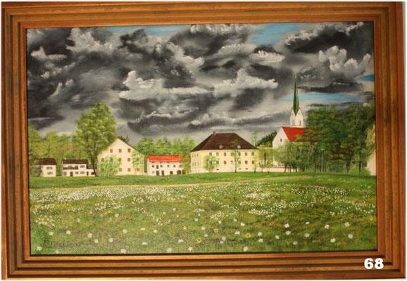 Nr.68 Schwindkirchen Pfarrhof mit Stadl. Format 40x60cm