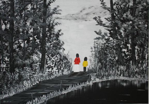 """Nr. 4iii """"Waldspaziergang"""" Format 100x70 cm"""