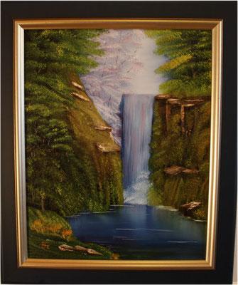 Nr.7 Wasserfall. Format 40x50cm
