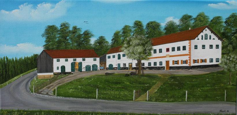 """Nr.166aa Beim """"Huama"""" in Schwindkirchen Format 30x60cm"""