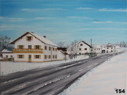 Nr.154 Winter in Strass. Format 30x40cm