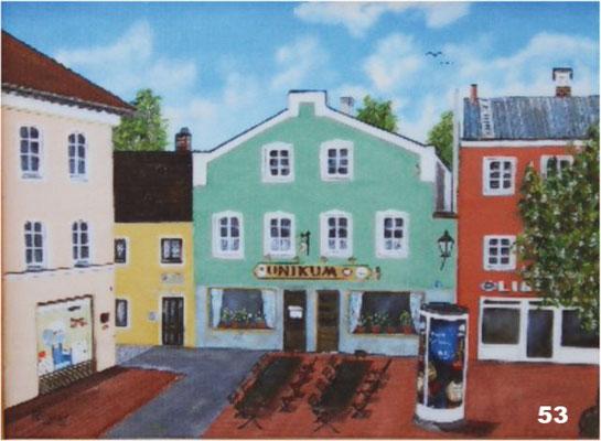 Nr.53 Gaststätte Unikum in Dorfen. Format 30x40cm