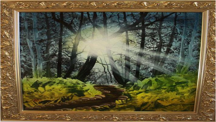 Nr.4 Die Sonne bricht durch. Format 40x50cm