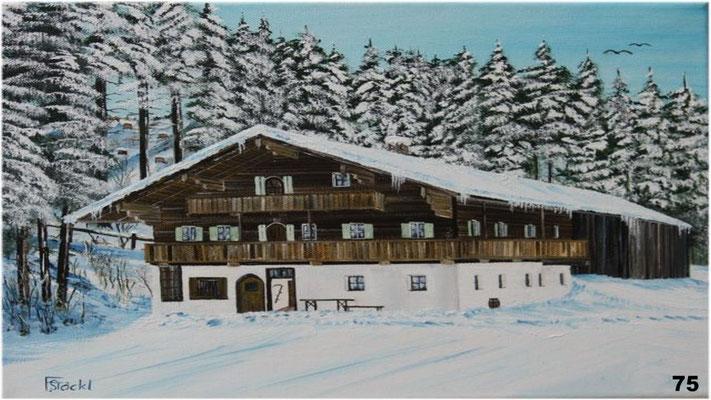 Nr.75 Mooserschmied in Westendorf in Tirol. Format 30x40cm