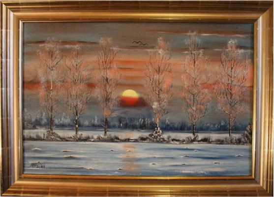 Nr.41 Sonnenuntergang im Isental. Format 40x60cm