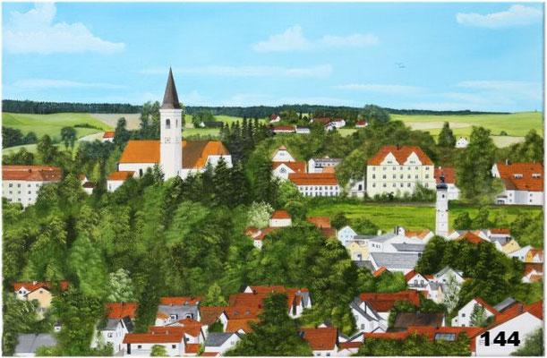 Nr.144 Dorfen, Panoramablick von Süden. Format 40x60cm