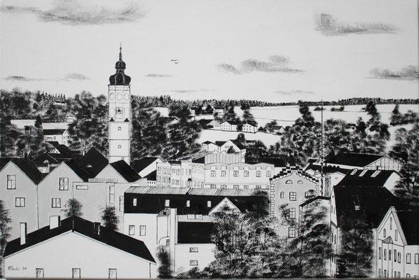 Nr.54a Dorfen, Blick vom Schuxenberg. Format 60x40cm