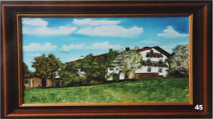 Nr.45 Anwesen bei Landersdorf. Format 30x40cm