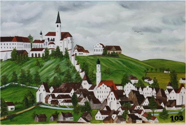 Nr.103 Alte Ansicht von Dorfen. Format 40x60cm