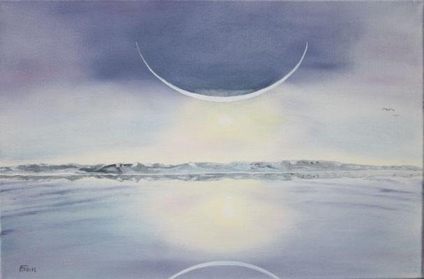 Nr.165 Sonnenaufgang am Nordpol. Format 40x60cm
