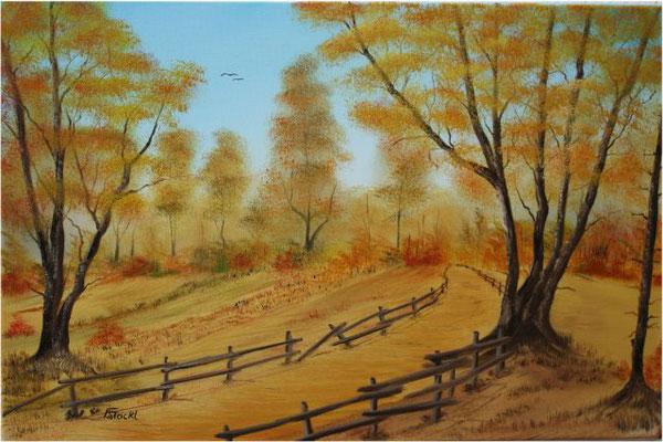 Nr.116 Goldener Oktober. Format 40x60cm