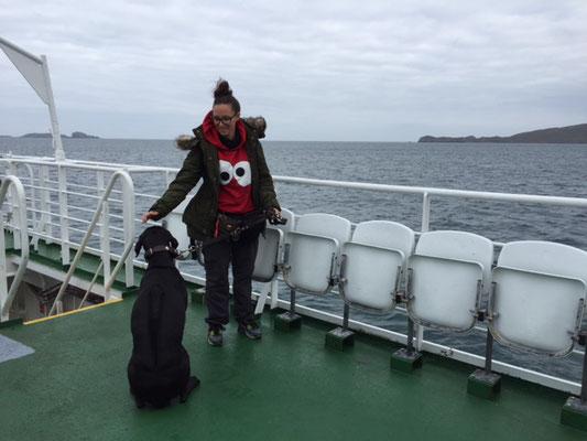 Fähre_Uist_Schottland_Die Roadies_Reisetagebuch_Hund_Wohnmobil