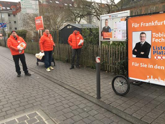 Tour durch die Eisenbahnersiedlung am 18.02. (v.l.: Andreas Welcher, Michael Kumnick und Torsten Gleich).