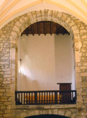 Muro del coro en su estado actual donde se ubicará la pintura