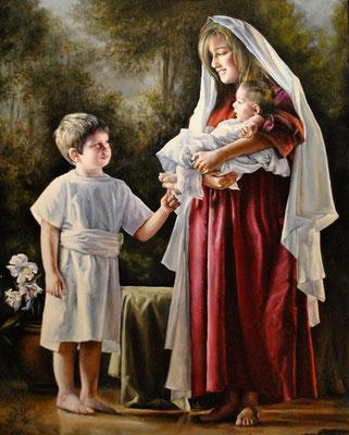 La Virgen María y el Niño Jesús.