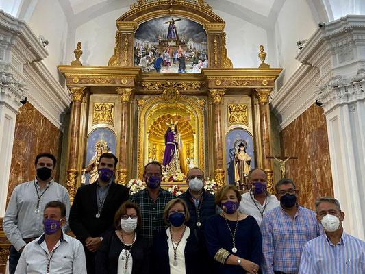 Representantes de la Hermandad de Ntro. Padre Jesús Nazareno.