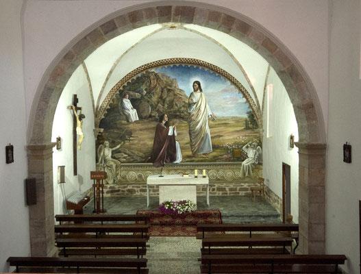 Vista del mural desde el coro