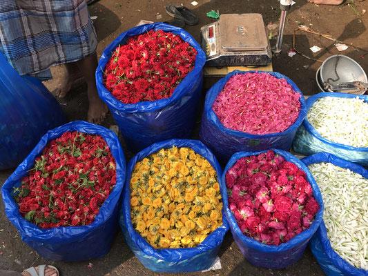 Blumenmarkt Madurai Indien