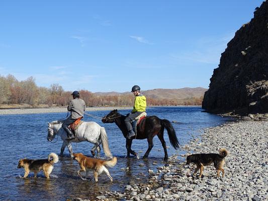 Reiten in Terelj Mongolei