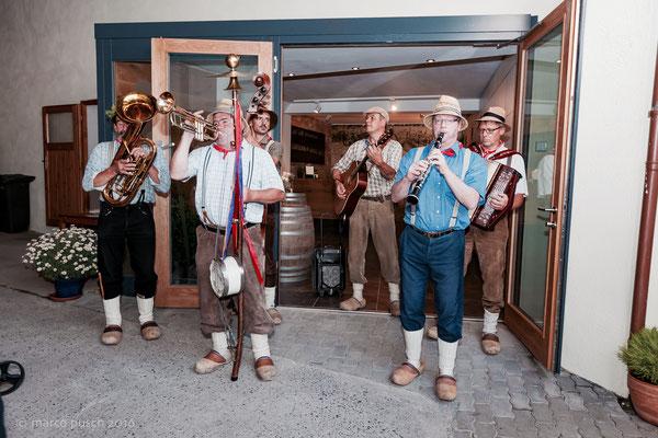 die Spräublöaser • Hofschoppenfest • Schäfers Weingut, Untererthal