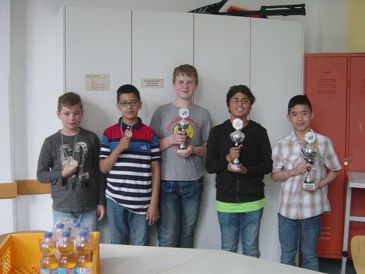 Tommy, Imran, Nico, Sameed und Fabrice,
