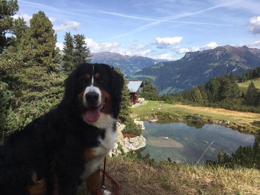Posieren vor dem Berg-See :-)