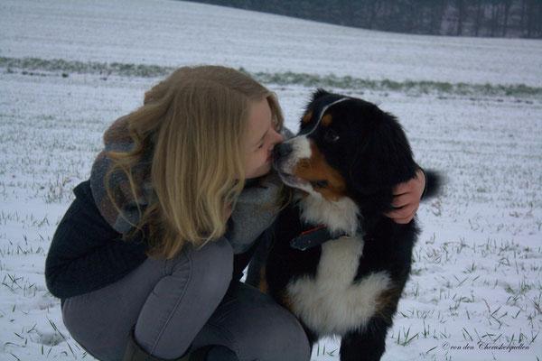 Und ein Küsschen gab es hinterher auch noch :-)