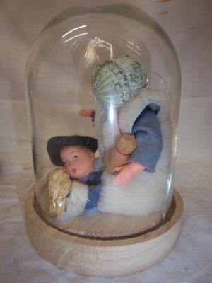 Bask-Zit assemblage squelette d'oursin et poupée 50€