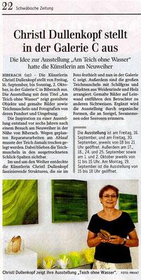 15.09.2016 - Artikel in der Schwäbischen Zeitung