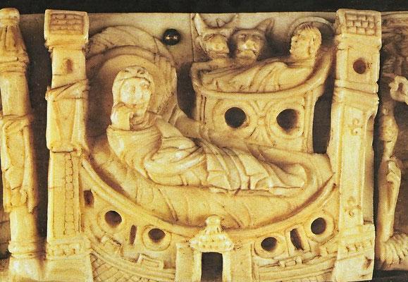 Geburt Christi. Rheinisches Tragaltärchen aus dem 11. Jahrhundert (Stift Melk)