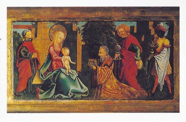 Anbetung der Könige. Unbekannter Meister der Donauschule um 1520. (Stift Melk)