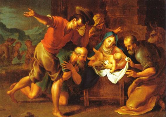 Hirten bei der Krippe, nach Palma (Stift Melk, Prälatursaal)