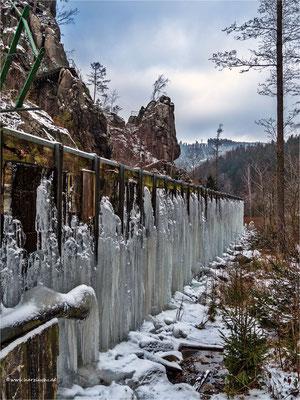 der Eisvorhang im Okertal