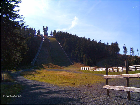 2003 am Auslauf der Wurmbergschanze