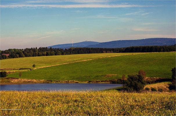Blick zum Brocken ... über den alten Wasserläuferteich