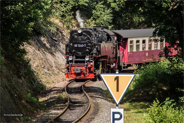 die Selkebahn am Haltepunkt Drahtzug